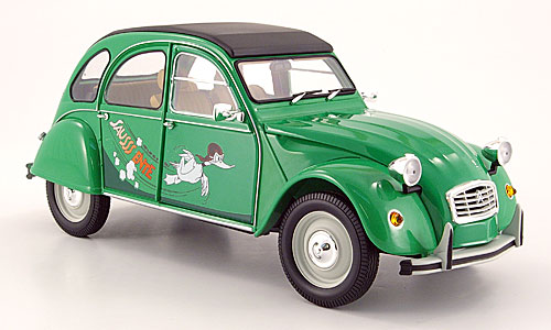 2cv sauss ente de minichamps 1 18 citro rouge et vert. Black Bedroom Furniture Sets. Home Design Ideas