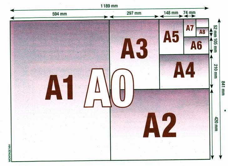 format a4 dimensions