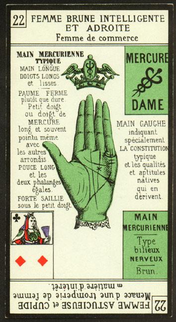 jeu de carte main inversre