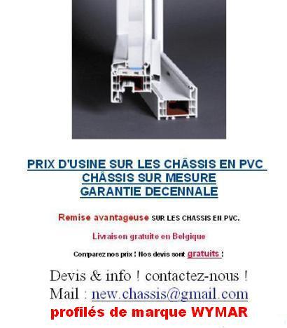 Chassis pvc bois alu sur mesure prix d 39 usine for Prix chassis pvc