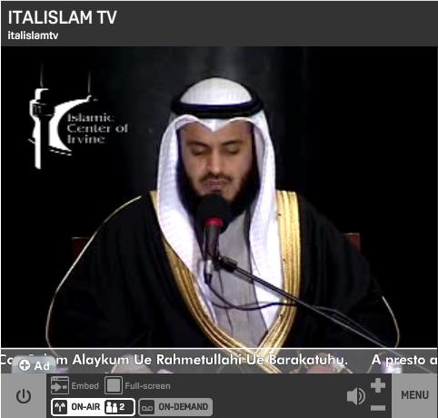 Italislamtv & Italislam-online E IL NOSTRO CANALE TV è Web Radio