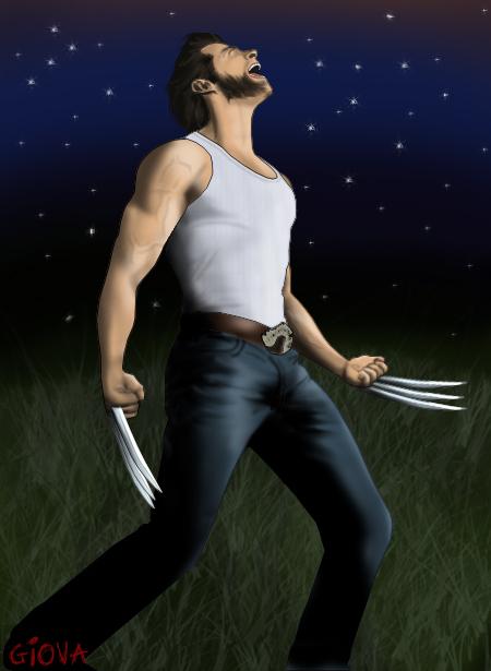X-Men Origins: Wolverine - Mi dibujo en Photoshop