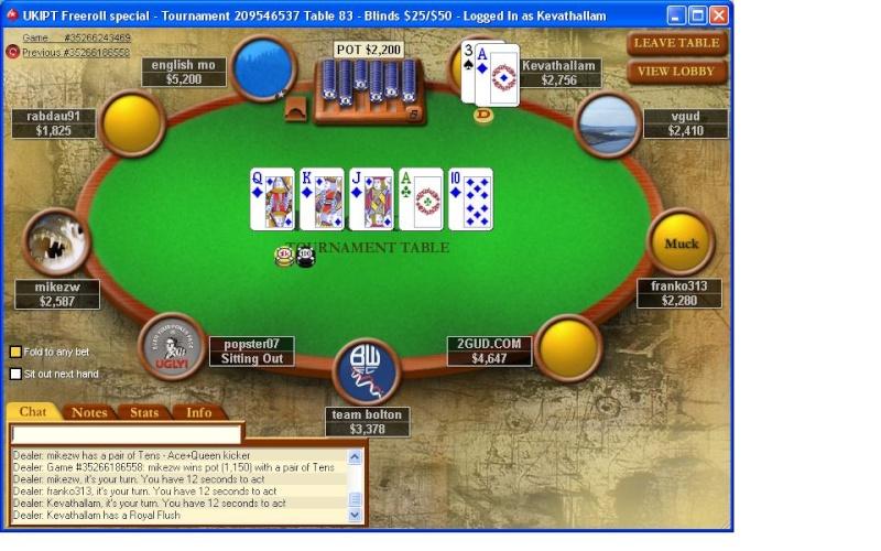 Royal Flush on Pokerstars | BETBLOG