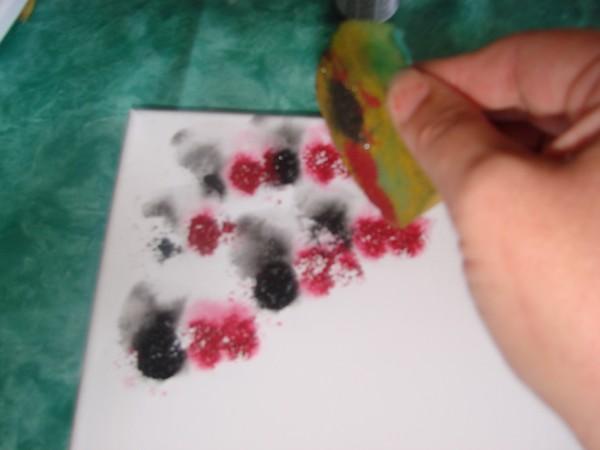 Peinture abstraite par claire - Peinture sur toile facile a realiser ...