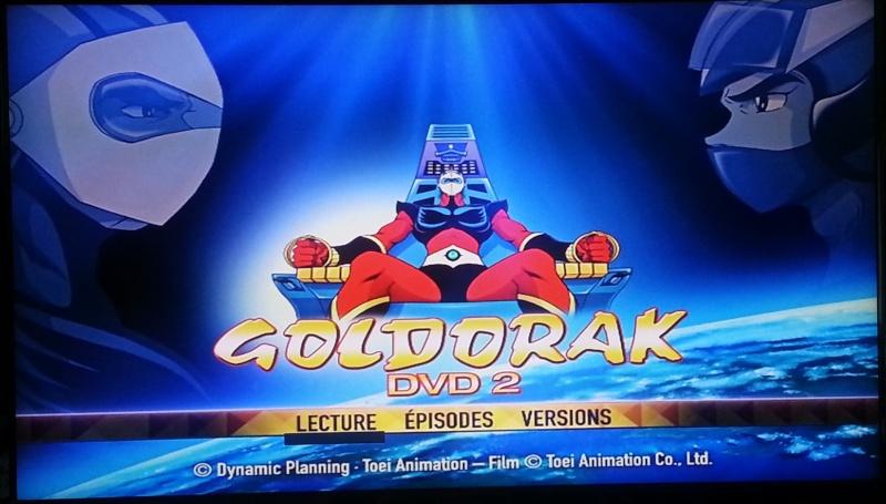 visuel deuxième DVD Goldorak