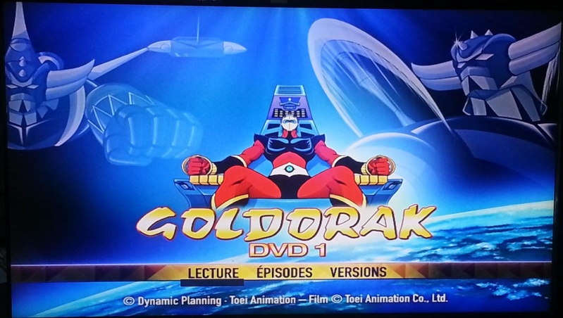 visuel premier DVD Goldorak