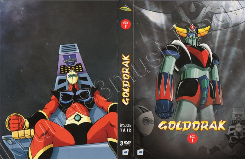 Goldorak Coffret DVD premier dépliage Recto et verso
