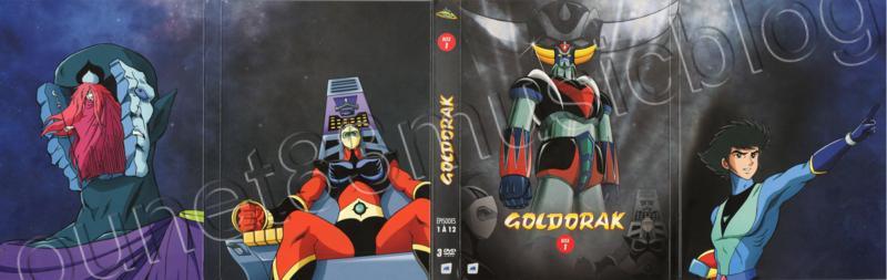 Goldorak Coffret DVD déplié Recto et verso