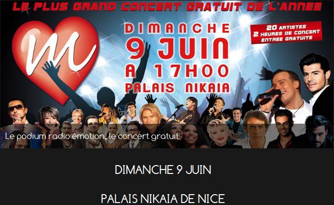 Le plus grand concert gratuit NICE Palais Nikaia