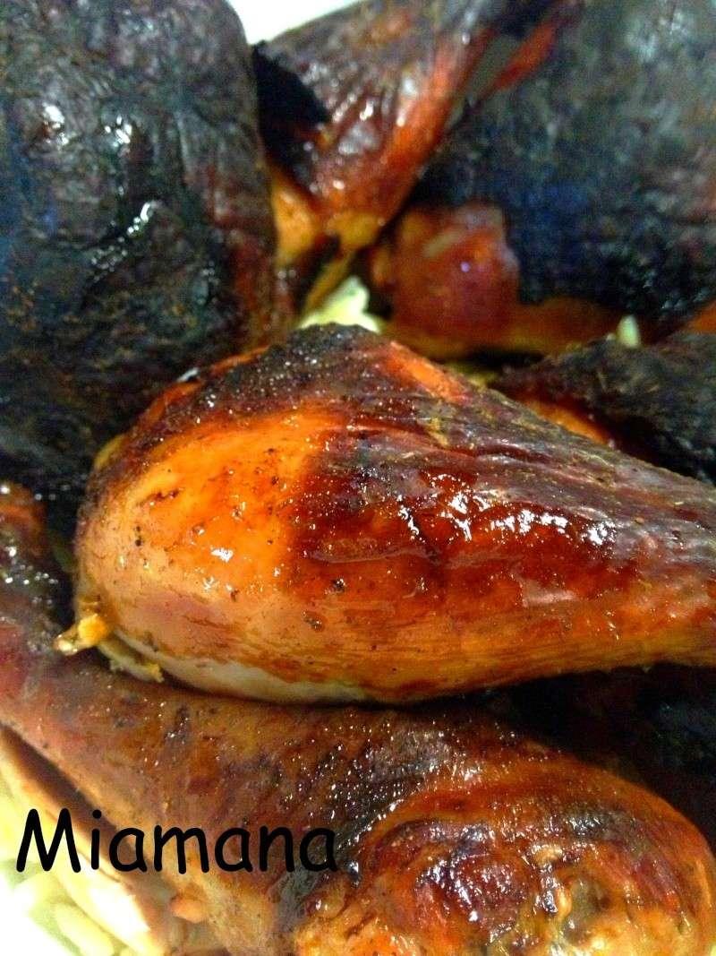 Cuisses de poulet fa on canard laqu une d butante en cuisine - Cuisse de poulet grille au four ...