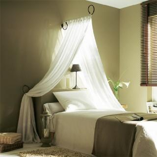Chambre mille et une nuit - Ciel de lit gris ...