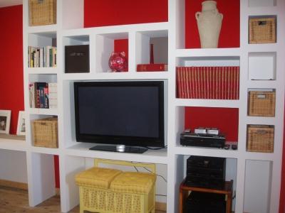 une chambre esprit salon. Black Bedroom Furniture Sets. Home Design Ideas