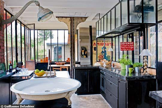 chambre style atelier industriel atelier cuisine - Chambre Style Atelier Industriel