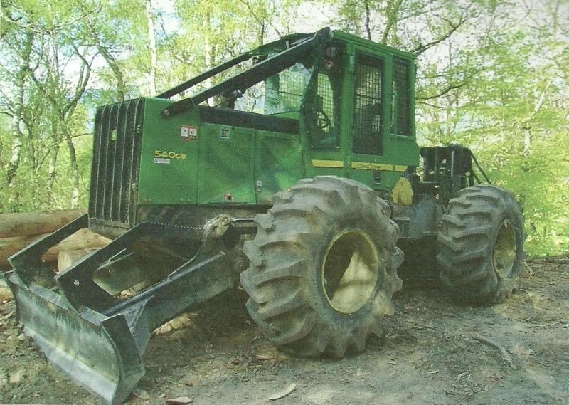 tracteur forestier john deere 640