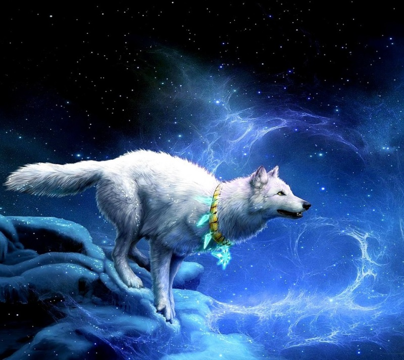 Ice Wolf With Wings The pic with ice blue paws and