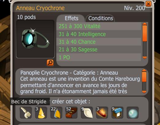 Recette de lAnneau Cryochrone incorrect : FORUM DOFUS : Forum de ...