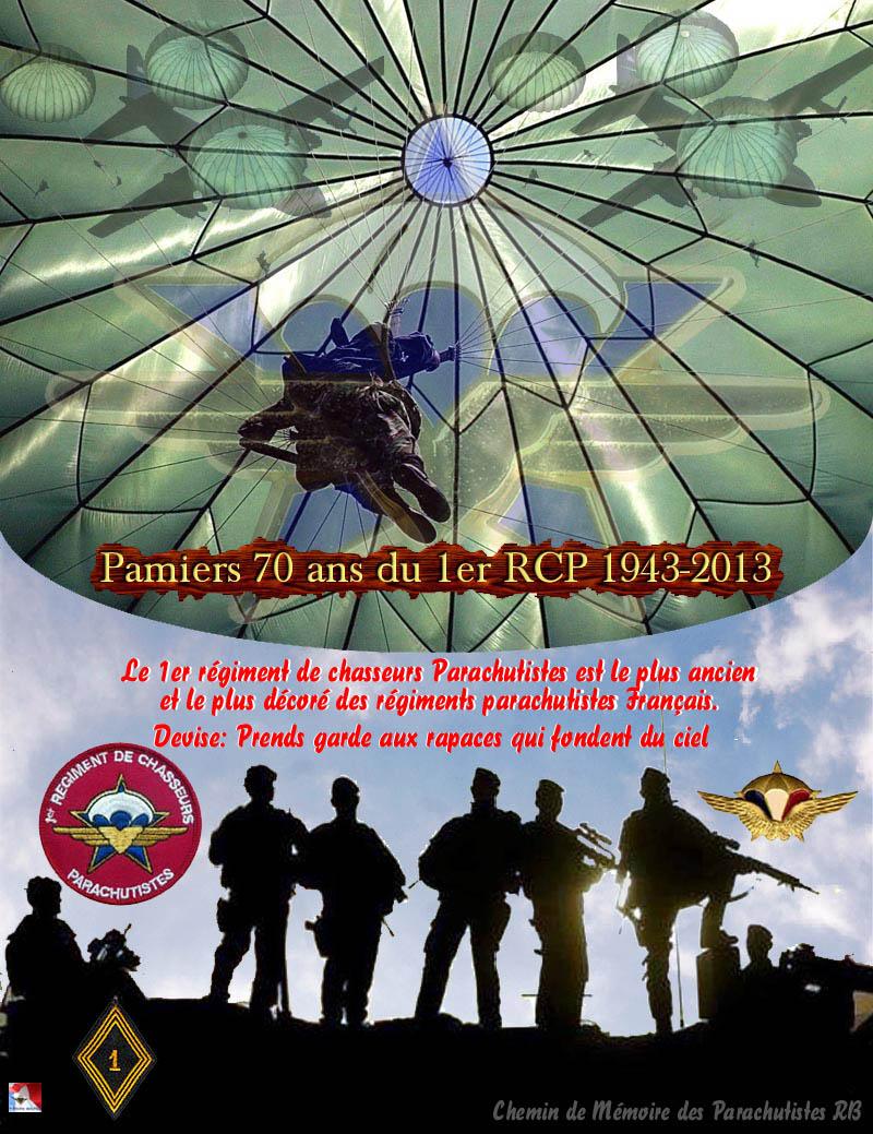 70e anniversaire 1er RCP