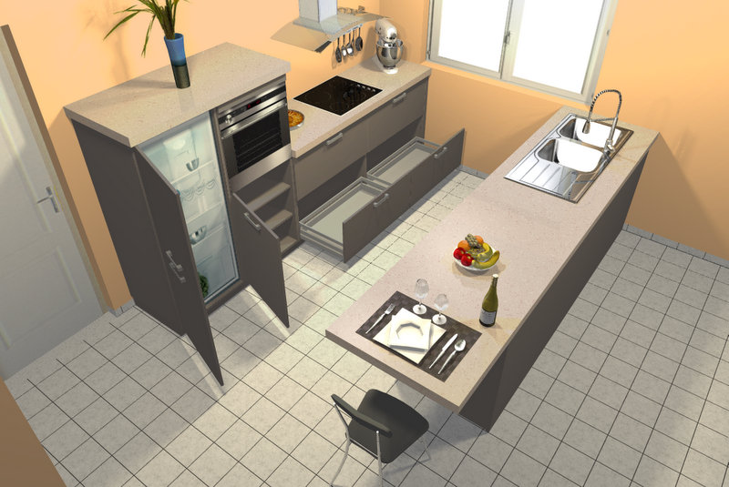 Future maison am nagement cuisine - Amenagement cuisine carree ...