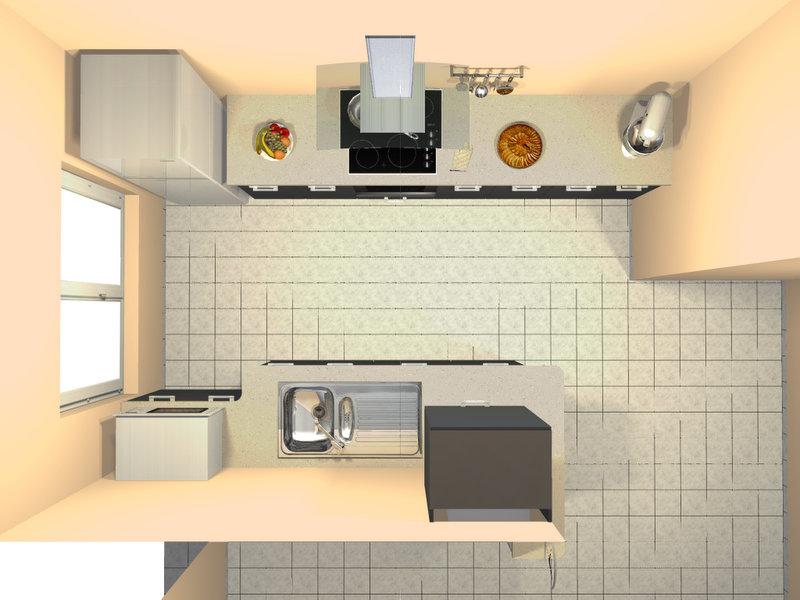 Cuisine en double ii ouverte salon salle manger - Cacher cuisine ouverte ...