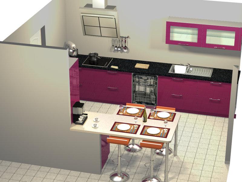 cuisine dans maison neuve