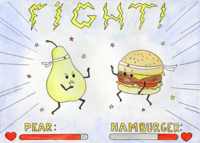 Junk Food Vs Healthy Food Posters