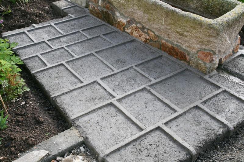 Dallage aspect granit - Temps de sechage dalle beton pour marcher dessus ...