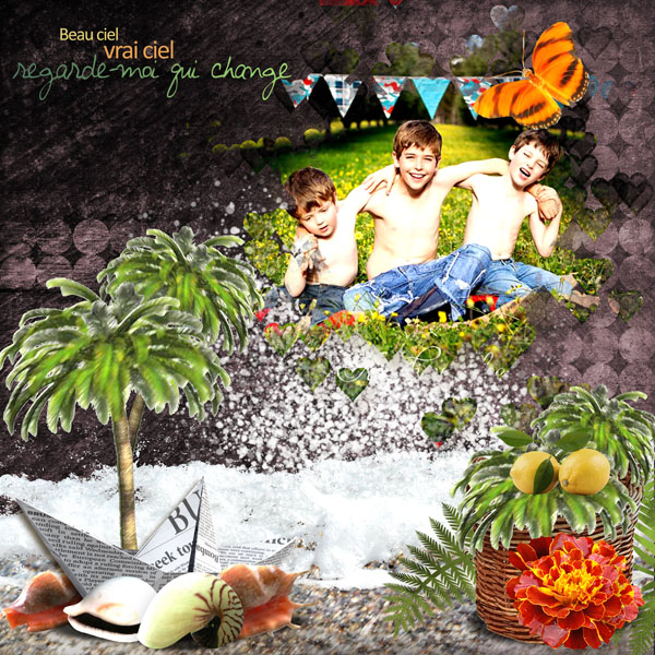 summertime kit simplette page galadriel
