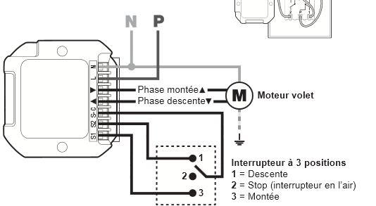 besoin d aide branchement module volet roulant