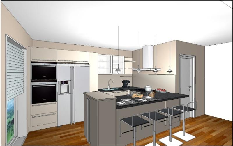 Aide couleur des murs couloirs salon cuisine for Aide de cuisine